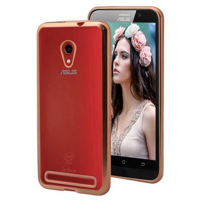Microsonic Asus Zenfone 6 Kılıf Flexi Delux Gold Cep Telefonu Kılıfı