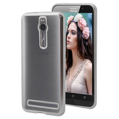 Microsonic Asus Zenfone 2 5.5 Inch Kılıf Flexi Delux Gümüş Cep Telefonu Kılıfı