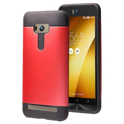 Microsonic Asus Zenfone Selfie Kılıf Slim Fit Dual Layer Armor Kırmızı Cep Telefonu Kılıfı