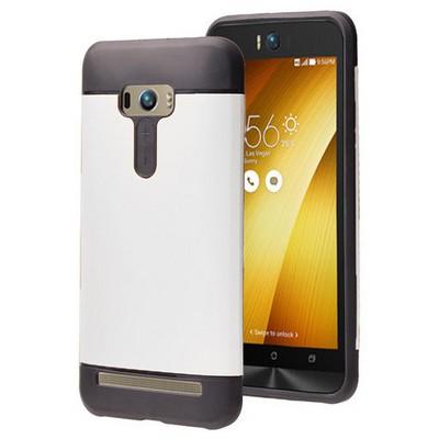 Microsonic Asus Zenfone Selfie Kılıf Slim Fit Dual Layer Armor Beyaz Cep Telefonu Kılıfı
