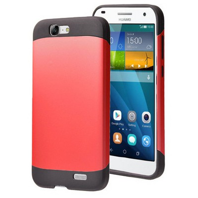 Microsonic Huawei Ascend G7 Kılıf Slim Fit Dual Layer Armor Kırmızı Cep Telefonu Kılıfı