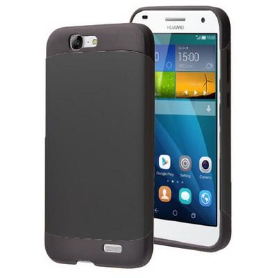 Microsonic Huawei Ascend G7 Kılıf Slim Fit Dual Layer Armor Siyah Cep Telefonu Kılıfı