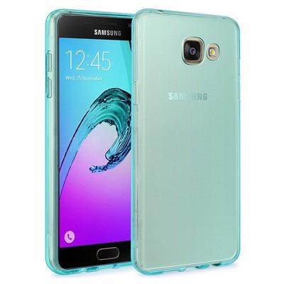 Microsonic Samsung Galaxy A9 2016 Kılıf Transparent Soft Mavi Cep Telefonu Kılıfı
