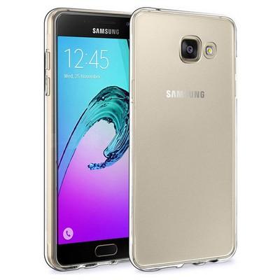 Microsonic Samsung Galaxy A9 2016 Kılıf Transparent Soft Beyaz Cep Telefonu Kılıfı