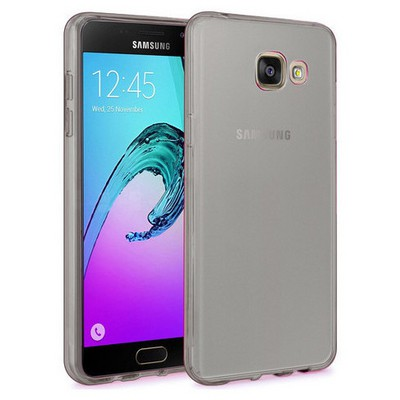 Microsonic Samsung Galaxy A9 2016 Kılıf Transparent Soft Siyah Cep Telefonu Kılıfı