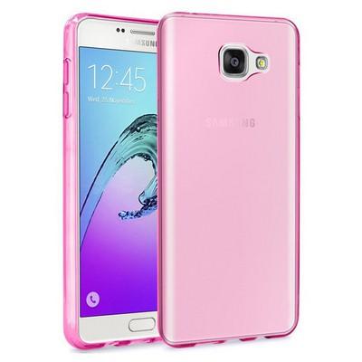 Microsonic Samsung Galaxy A7 2016 Kılıf Transparent Soft Pembe Cep Telefonu Kılıfı