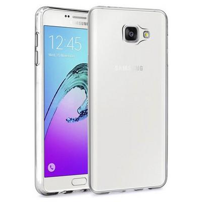 Microsonic Samsung Galaxy A7 2016 Kılıf Transparent Soft Beyaz Cep Telefonu Kılıfı
