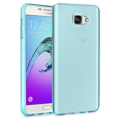 Microsonic Samsung Galaxy A3 2016 Kılıf Transparent Soft Mavi Cep Telefonu Kılıfı