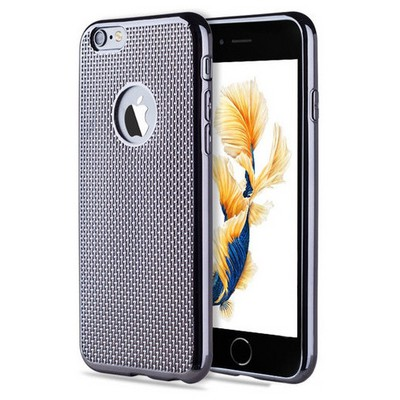 Microsonic Iphone 6s Plus Kılıf Electroplate Soft Rose Siyah Cep Telefonu Kılıfı