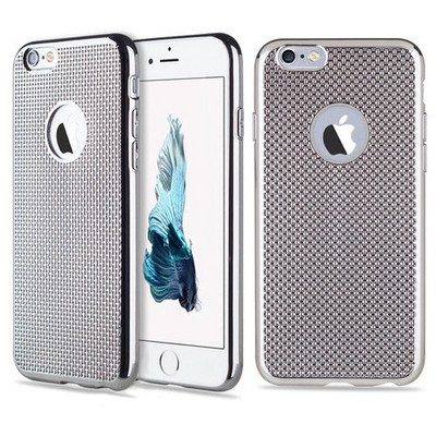 Microsonic Iphone 6s Plus Kılıf Electroplate Soft Gümüş Cep Telefonu Kılıfı