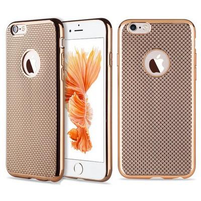 Microsonic Iphone 6s Plus Kılıf Electroplate Soft Gold Cep Telefonu Kılıfı