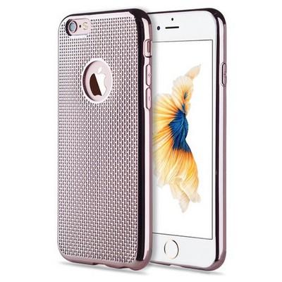 Microsonic Iphone 6s Kılıf Electroplate Soft Rose Gold Cep Telefonu Kılıfı