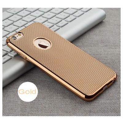 Microsonic Iphone 6s Kılıf Electroplate Soft Gold Cep Telefonu Kılıfı