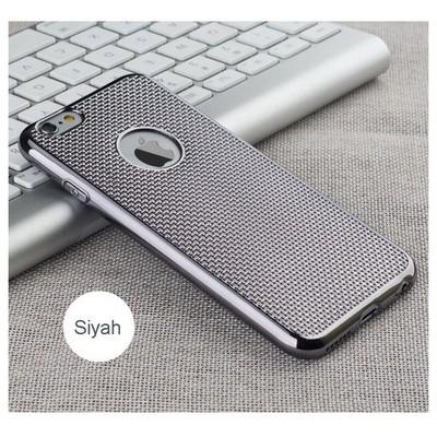 Microsonic Iphone 6 Plus Kılıf Electroplate Soft Rose Siyah Cep Telefonu Kılıfı