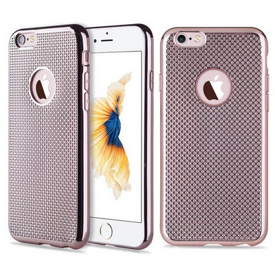 Microsonic Iphone 6 Plus Kılıf Electroplate Soft Rose Gold Cep Telefonu Kılıfı