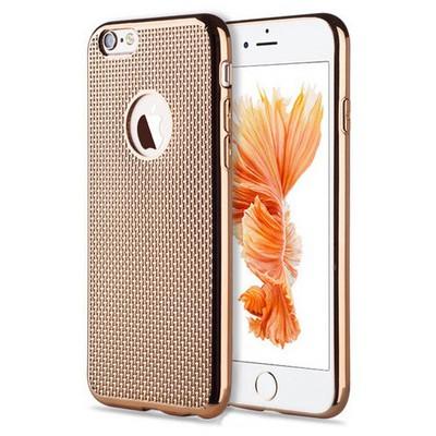 Microsonic Iphone 6 Plus Kılıf Electroplate Soft Gold Cep Telefonu Kılıfı