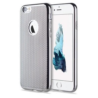 Microsonic Iphone 6 Kılıf Electroplate Soft Gümüş Cep Telefonu Kılıfı