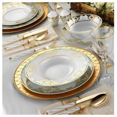 Kütahya Porselen 845814 83 Parça Desenli Yemek Takımı
