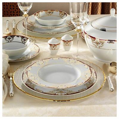 Kütahya Porselen 8458a 83 Parça Desenli Yemek Takımı