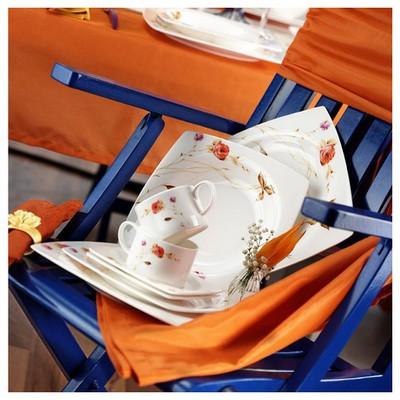 Kütahya Porselen Aliza Bone 83 Parça 25127 Desenli Yemek Takımı