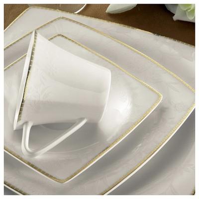 Kütahya Porselen 65118 Aliza Bone 83 Parça Desenli Yemek Takımı Tabak