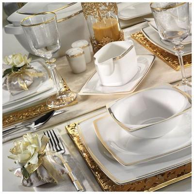 Kütahya Porselen 65120 Aliza Bone 83 Parça Desenli Yemek Takımı