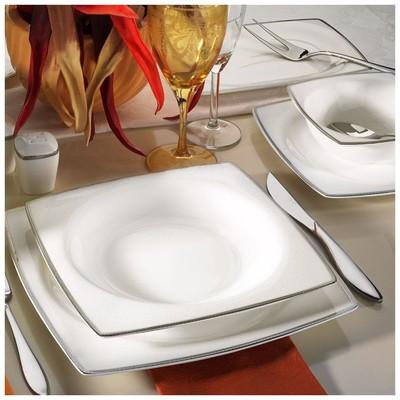 Kütahya Porselen 66103 Aliza Bone 83 Parça Desenli Yemek Takımı