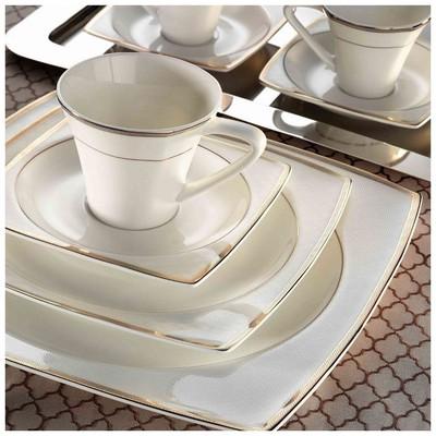 Kütahya Porselen 70100 Aliza Bone 83 Parça Desenli Yemek Takımı