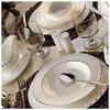 Kütahya Porselen 25135 Bone China 84 Parça Yemek Takımı Tabak