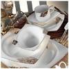 Kütahya Porselen 60108 Fileli Kare Bone 83 Parça Yemek Takımı Tabak