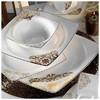 Kütahya Porselen 60105 Fileli Kare Bone 83 Parça Yemek Takımı Tabak
