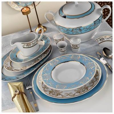 Kütahya Porselen 6914 Iris 97 Parça Yemek Takımı