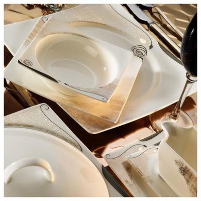 Kütahya Porselen 65105 Square Bone 84 Parça Yemek Takımı