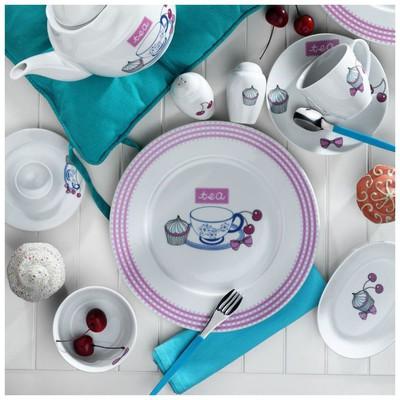 Kütahya Porselen 8003 Porselen 33 Parça Kahvaltı Takımı Tabak