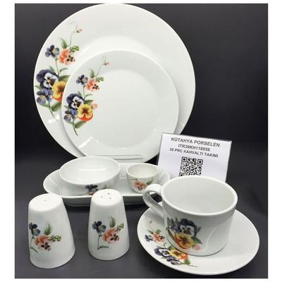 Kütahya Porselen 8956 Itır 39 Parça Kahvaltı Takımı Tabak