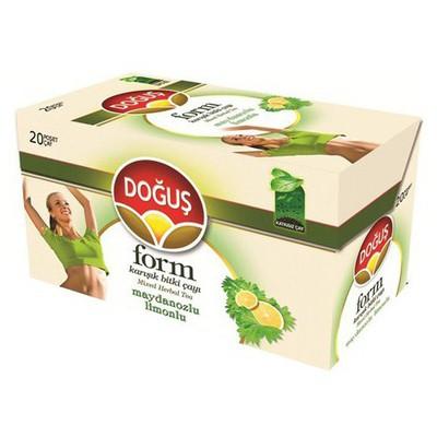 Doğuş Form Bardak Poşet Çay Maydonoz Limon Aromalı 20 Adet Bitki Çayı