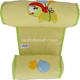 Sevi Bebe 4330 Güvenli Yan Yatış Yastığı Figürlü Sarı Yastıklar