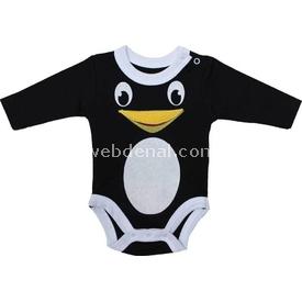 Babycool 1262511 Penguen Uzunkol Body Siyah 6-9 Ay (68-74 Cm) Erkek Bebek Body