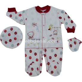 Misket 1271 Puanlı Bebek Takım Bordo 3-6 Ay (62-68 Cm) Kız Bebek Takım