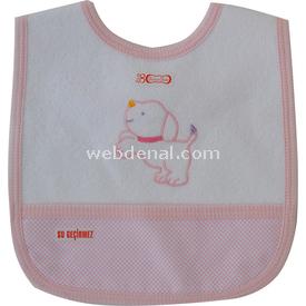 Bahar 0765 Cepli Havlu Önlük Pembe Mama Önlüğü