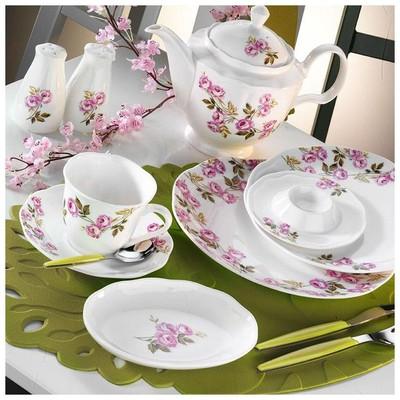 Kütahya Porselen 55103 Bone China 44 Parça Kahvaltı Takımı Yemek Takımı
