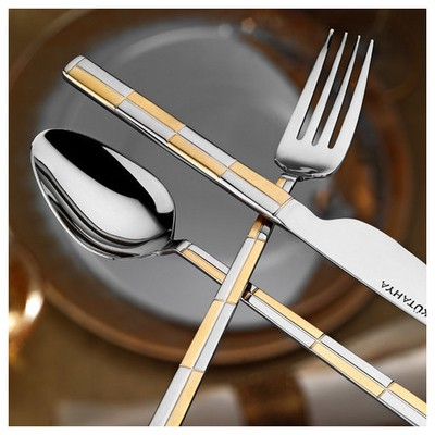 Kütahya Porselen Gold 89 Parça Çatal Bıçak Takımı Çatal, Kaşık, Bıçak