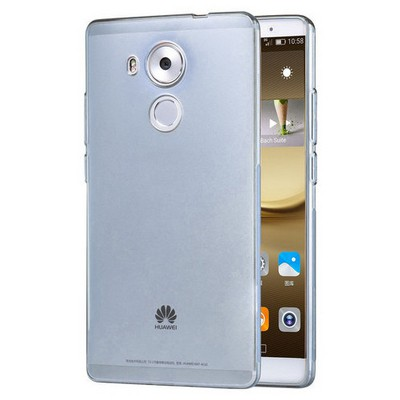 Microsonic Huawei Mate 8 Kılıf Transparent Soft Mavi Cep Telefonu Kılıfı