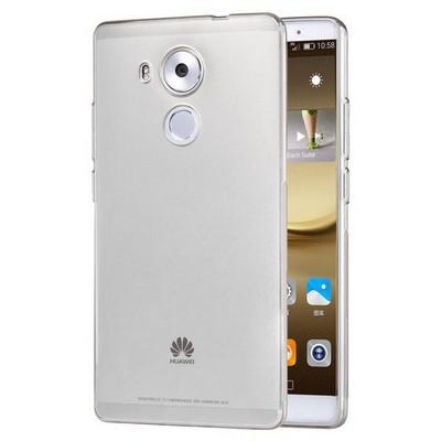 Microsonic Huawei Mate 8 Kılıf Transparent Soft Beyaz Cep Telefonu Kılıfı