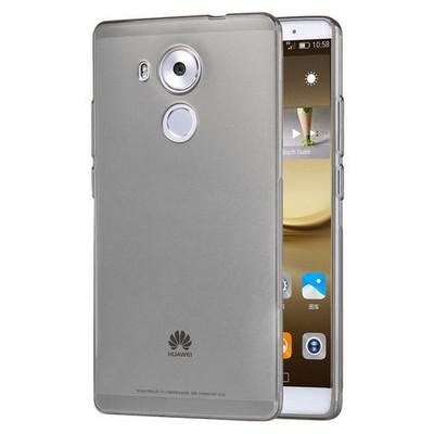 Microsonic Huawei Mate 8 Kılıf Transparent Soft Siyah Cep Telefonu Kılıfı