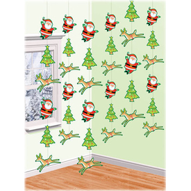 Parti Paketi Noel Baba Ve Ren Geyiği, Ip Süs Parti Süsü
