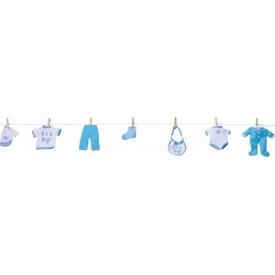 Parti Paketi Erkek Bebek Eşyaları, Çamaşır Ipi Parti Süsü
