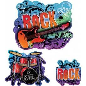 Parti Paketi Rock Star, Duvar Dekor Kiti Parti Dekoru