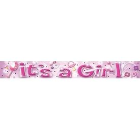 Parti Paketi It's A Girl, Folyo Banner Parti Afişi