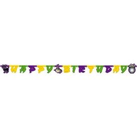 Parti Paketi Tatlı Cadı, Happy Birthday Banner Parti Afişi